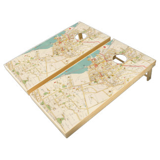 Vintage Map of Tarrytown New York (1893) Cornhole Set