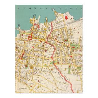 Vintage Map of Tarrytown New York (1893) Postcard
