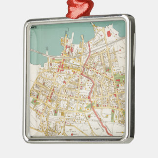 Vintage Map of Tarrytown New York (1893) Square Metal Christmas Ornament