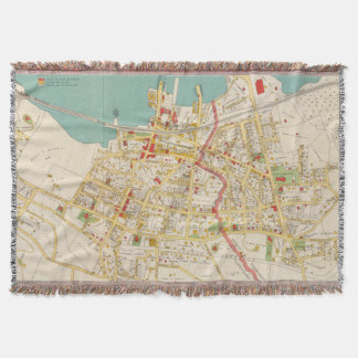 Vintage Map of Tarrytown New York (1893) Throw