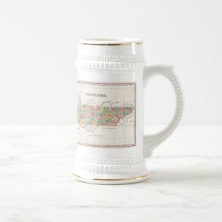 Vintage Map of Tennessee (1827) Beer Stein