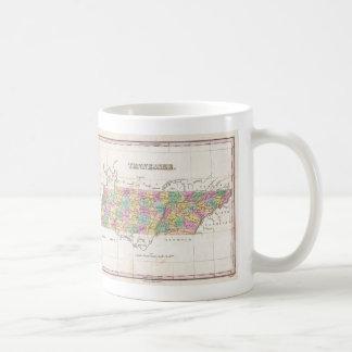 Vintage Map of Tennessee (1827) Coffee Mug