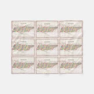 Vintage Map of Tennessee (1827) Fleece Blanket
