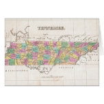 Vintage Map of Tennessee (1827) Greeting Cards