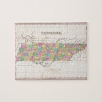 Vintage Map of Tennessee (1827) Jigsaw Puzzle