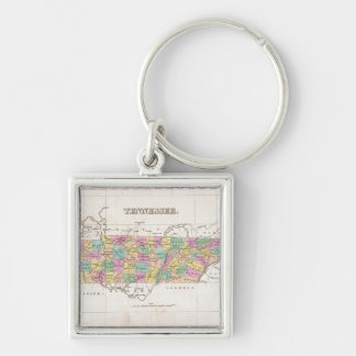 Vintage Map of Tennessee (1827) Keychain
