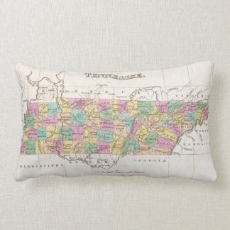 Vintage Map of Tennessee (1827) Lumbar Pillow