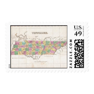 Vintage Map of Tennessee (1827) Postage