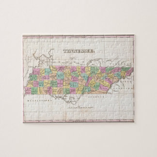 Vintage Map of Tennessee (1827) Puzzle