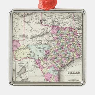 Vintage Map of Texas (1855) Metal Ornament
