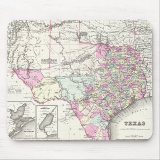 Vintage Map of Texas (1855) Mouse Pad