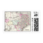 Vintage Map of Texas (1855) Postage Stamps