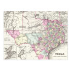 Vintage Map of Texas (1855) Postcard