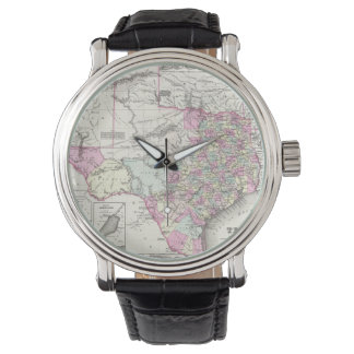 Vintage Map of Texas (1855) Wristwatch