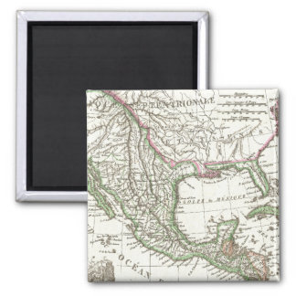 Vintage Map of Texas and Mexico Territories (1810) 2 Inch Square Magnet