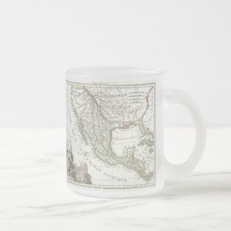 Vintage Map of Texas and Mexico Territories (1810) Frosted Glass Coffee Mug