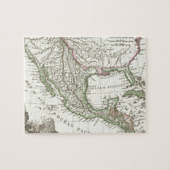 Vintage Map of Texas and Mexico Territories (1810) Jigsaw Puzzle