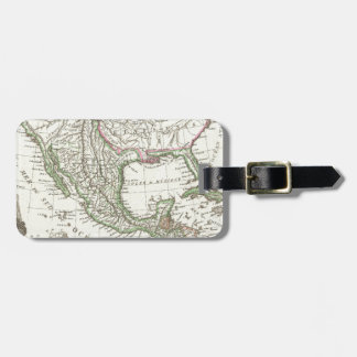 Vintage Map of Texas and Mexico Territories (1810) Tag For Luggage