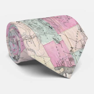 Vintage Map of The Adirondack Mountains (1867) Tie
