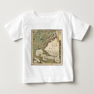 Vintage Map of The Americas (1733) Baby T-Shirt