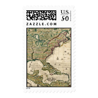 Vintage Map of The Americas (1733) Postage