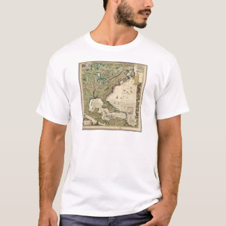 Vintage Map of The Americas (1733) T-Shirt