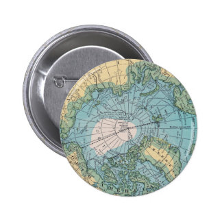 Vintage Map of the Arctic Button