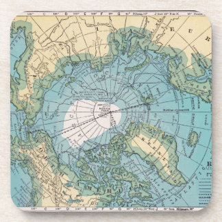 Vintage Map of the Arctic Coaster