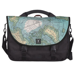 Vintage Map of the Arctic Laptop Computer Bag