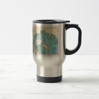 Vintage Map of the Arctic Travel Mug