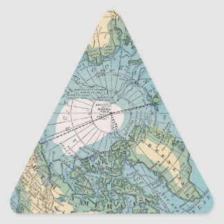 Vintage Map of the Arctic Triangle Sticker