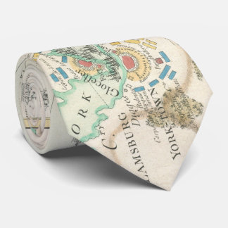 Vintage Map of The Battle of Yorktown (1781) Neck Tie