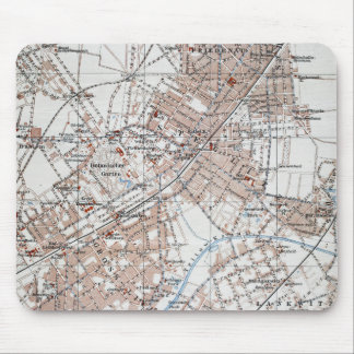 Vintage Map of The Berlin Germany Suburbs (1914) Mouse Pad