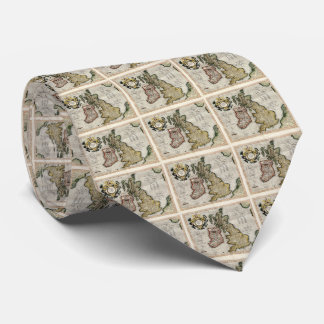 Vintage Map of The British Isles (1596) Tie