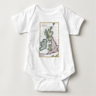 Vintage Map of The British Isles (1780) Baby Bodysuit
