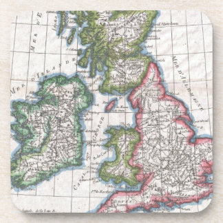 Vintage Map of The British Isles (1780) Beverage Coaster