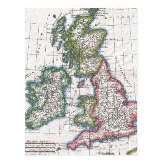 Vintage Map of The British Isles (1780) Post Cards