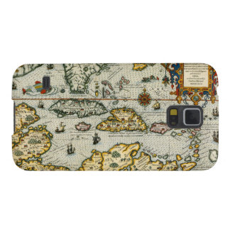 Vintage Map of The Caribbean (1594) Cases For Galaxy S5
