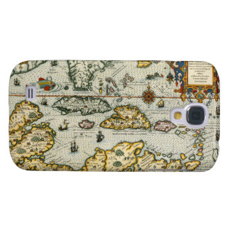 Vintage Map of The Caribbean (1594) Galaxy S4 Cover