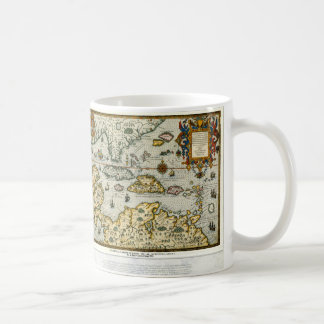 Vintage Map of The Caribbean (1594) Classic White Coffee Mug