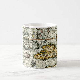 Vintage Map of The Caribbean (1594) Coffee Mug