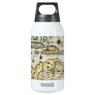 Vintage Map of The Caribbean (1594) Thermos Bottle