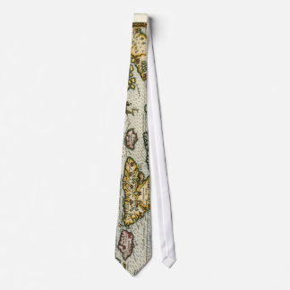 Vintage Map of The Caribbean (1594) Tie