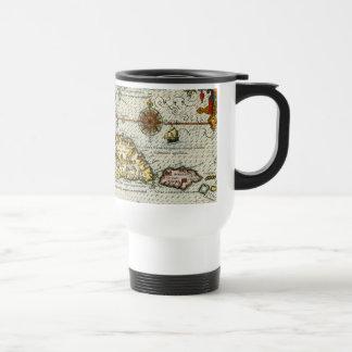 Vintage Map of The Caribbean (1594) Travel Mug