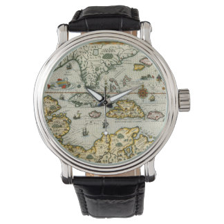 Vintage Map of The Caribbean (1594) Wristwatch