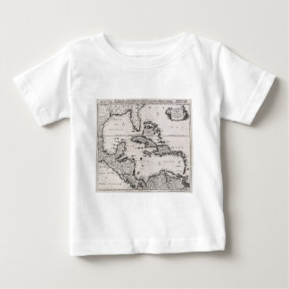 Vintage Map of The Caribbean (1696) Baby T-Shirt