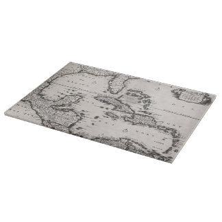 Vintage Map of The Caribbean (1696) Cutting Board