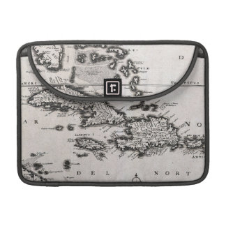 Vintage Map of The Caribbean (1696) MacBook Pro Sleeve