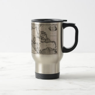 Vintage Map of The Caribbean (1696) 15 Oz Stainless Steel Travel Mug