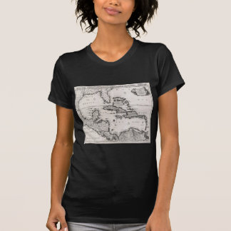Vintage Map of The Caribbean (1696) T-Shirt